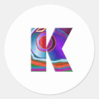 ALPHABET Kay : ID Identity initial name decorative Sticker