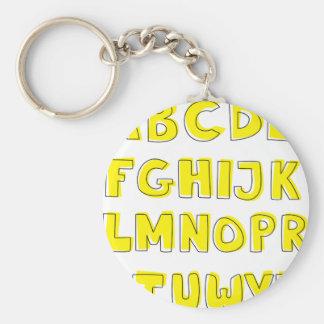 Alphabet Key Ring
