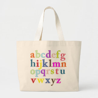 Alphabet Large Tote Bag