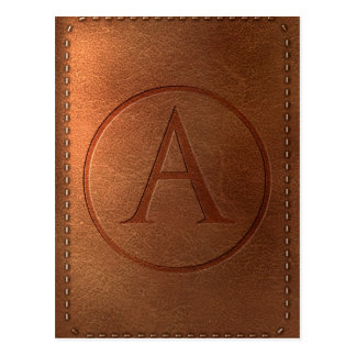 alphabet leather letter A Postcard