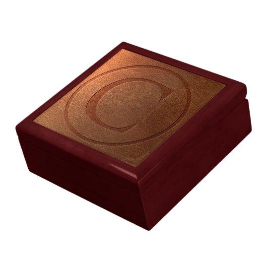 alphabet leather letter C Gift Box