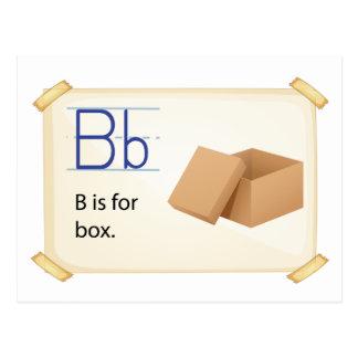 Alphabet letter B Postcard