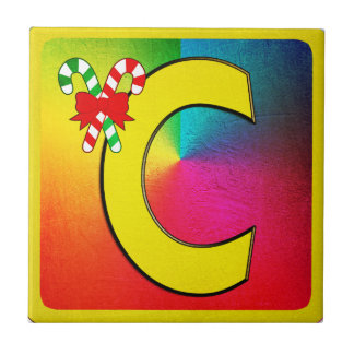 Alphabet Letter C Small Square Tile