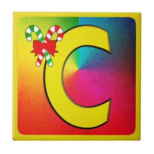 Alphabet Letter C Tile