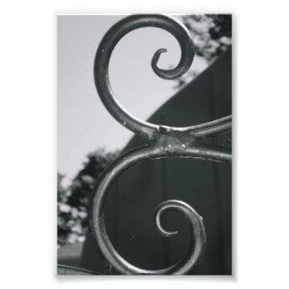 Alphabet Letter E (5) Black and White Photo