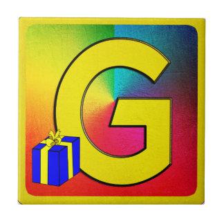 Alphabet Letter G Small Square Tile