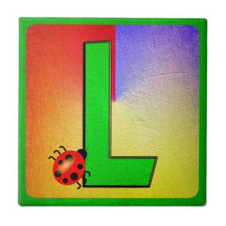 Alphabet Letter L Tile