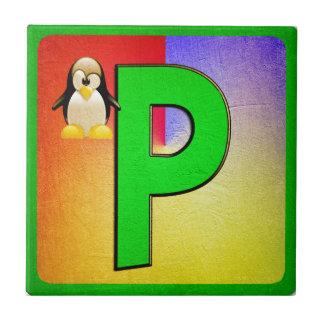 Alphabet Letter P Tile