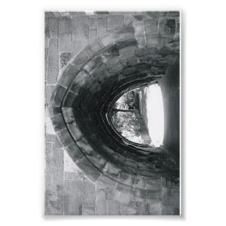 Alphabet Letter Photograph C2 Black and White 4x6