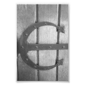 Alphabet Letter Photography E7 Black and White 4x6 Photo