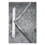 Alphabet Letter Photography K4 Black and White 4x6 Art Photo