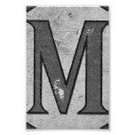 Alphabet Letter Photography M3 Black and White 4x6 Art Photo