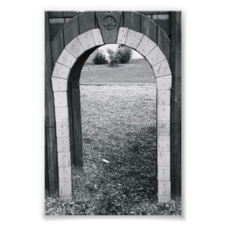 Alphabet Letter Photography N2 Black and White 4x6 Art Photo