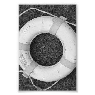 Alphabet Letter Photography O2 Black and White 4x6 Photo Print