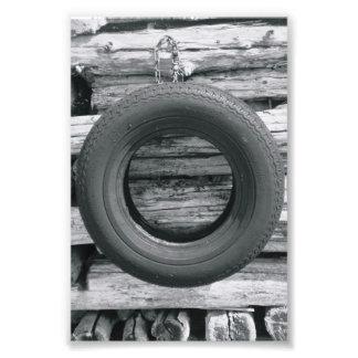 Alphabet Letter Photography O3 Black and White 4x6 Photo Art