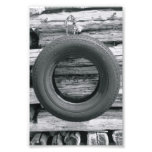Alphabet Letter Photography O3 Black and White 4x6 Photographic Print