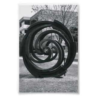 Alphabet Letter Photography O7 Black and White 4x6 Photo