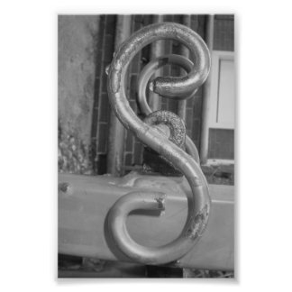 Alphabet Letter Photography S5 Black and White 4x6 Photographic Print