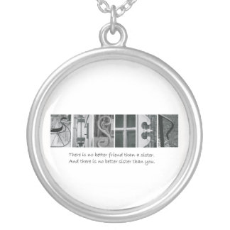 Alphabet Letter Photography Sister Necklace