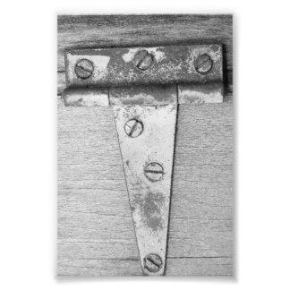 Alphabet Letter Photography T5 Black and White 4x6 Photo