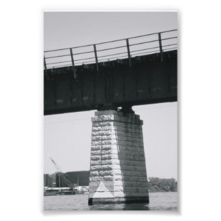Alphabet Letter Photography T6 Black and White 4x6 Photographic Print