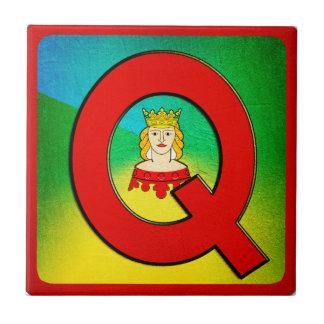 Alphabet Letter Q Small Square Tile