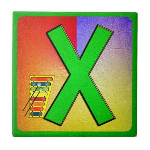 Alphabet Letter  X Ceramic Tile