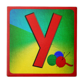 Alphabet Letter Y Small Square Tile