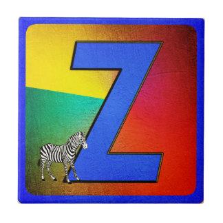 Alphabet Letter Z Small Square Tile