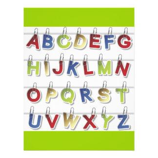 Alphabet Letters (4) 21.5 Cm X 28 Cm Flyer