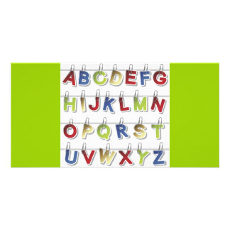 Alphabet Letters (4) Photo Greeting Card