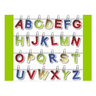 Alphabet Letters (4) Postcard