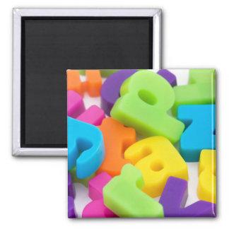 alphabet letters background square magnet