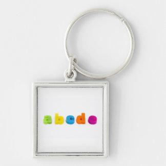 alphabet letters key chain