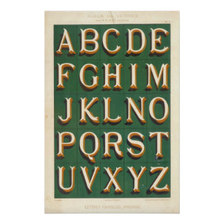 Alphabet Lettres capitales fantaisies Posters