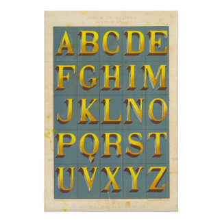 Alphabet Lettres capitales Posters