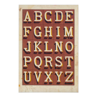 Alphabet Lettres monstres Posters