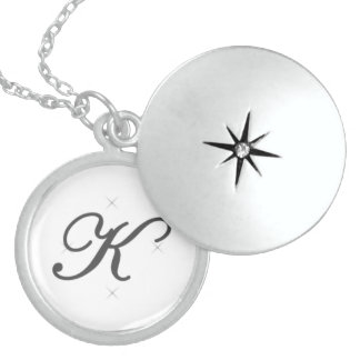 Alphabet locket - K