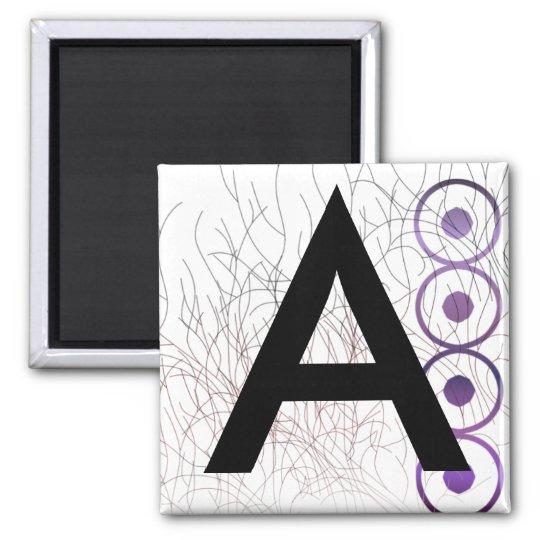 Alphabet Magnets: A Square Magnet