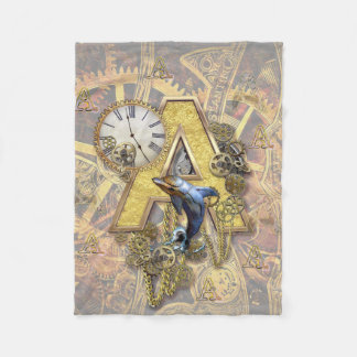 Alphabet, Monogram A Fleece Blanket