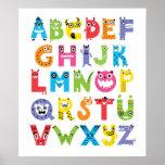 Alphabet Monsters Poster