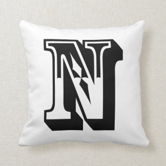 """Alphabet """"N"""" Letter ABC Cushion"""
