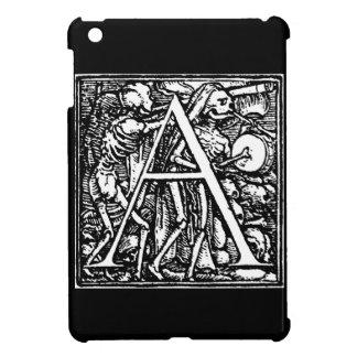 Alphabet of Death letter A ipad mini case