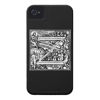 Alphabet of Death letter Z iPhone 4 Case-Mate Cases