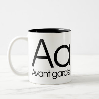 Alphabet Of Typography Mug - Avant Garde