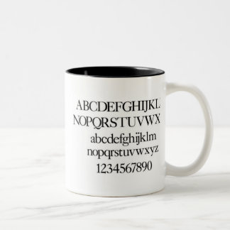 Alphabet Of Typography Mug - Caslon
