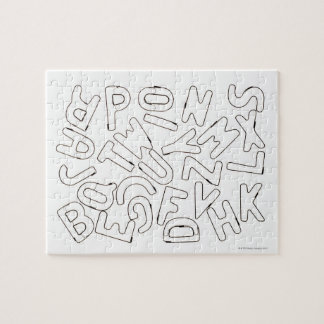 Alphabet outline jigsaw puzzle