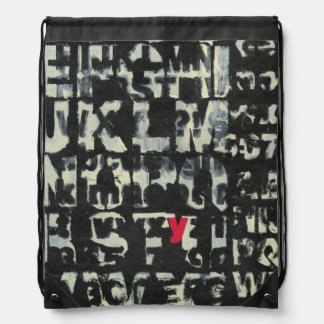 Alphabet Painting by Norman Wyatt Drawstring Bag