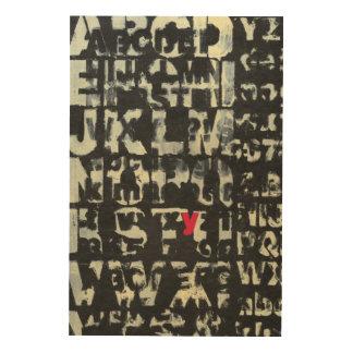 Alphabet Painting by Norman Wyatt Wood Wall Art