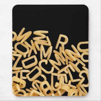 alphabet pasta background mouse mat